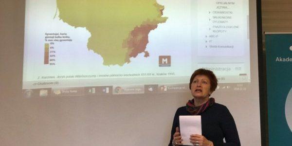 """Docent dr Barbara Dwilewicz dla Radia Wilno o VII Konkursie Krasomówczym """"Pięknie opowiedzieć małą ojczyznę"""""""